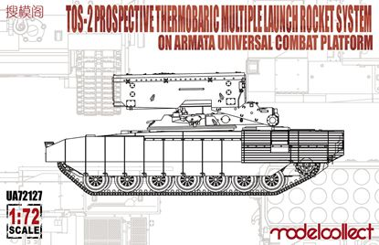 Picture of TOS-2 Prospective Thermobaric MuLtlplelaunch Rocket System on Armata Universal Combat Platform