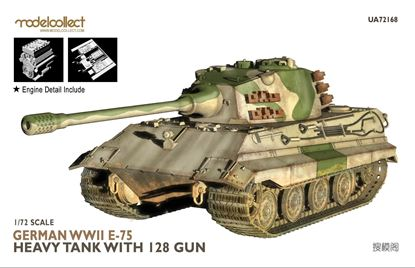 Picture of German WWII E-75 heavy tank with 128 gun